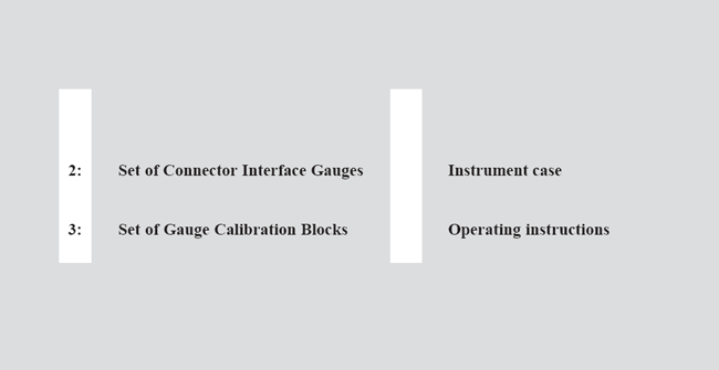 Description of the Equipment provided in the Standard Interface Gauge Kit